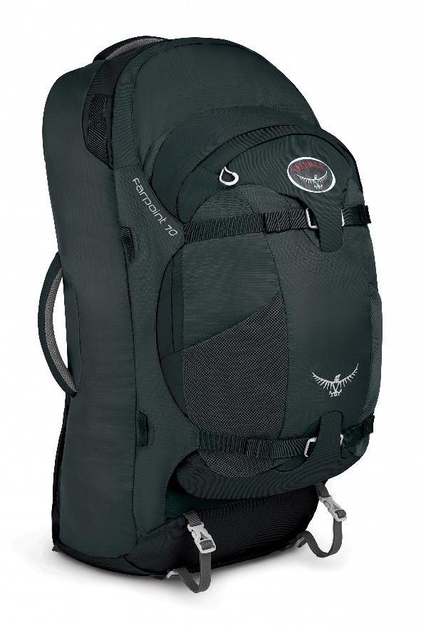 Сумка Farpoint 70Рюкзаки<br>Серия Farpoint   самые легкие рюкзаки для путешествий. Благодаря съемной подвеске на молнии, с сеткой для вентиляции, Farpoint можно использовать как классический рюкзак или же в качестве сумки через плечо с организацией, как у чемодана. Мягкие верхняя...<br><br>Цвет: Черный<br>Размер: 70 л