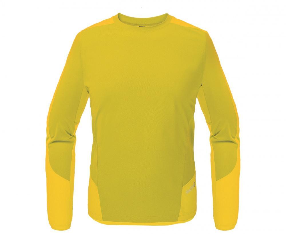 Футболка Amplitude LS МужскаяФутболки<br><br> Легкая и функциональная футболка, выполненная изкомбинации мягкого полиэстерового трикотажа, обеспечивающего эффективный отвод влаги, и усилений изнейлоновой ткани с высокой абразивной устойчивостьюв местах подверженных наибольшим механическим н...<br><br>Цвет: Желтый<br>Размер: 50