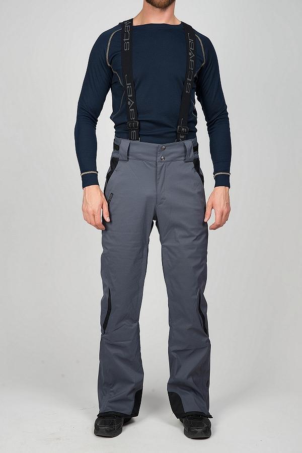 Брюки утепленные 222094Брюки, штаны<br>Горнолыжные брюки с анатомической конструкцией, повторяющей естественные изгибы тела. Мембранная ткань с эластичными волокнами обеспечивает полную свободу движений.<br> <br> Особенности:<br><br>Материал: Skistretch (20 000 мм/кв.см /15...<br><br>Цвет: Серый<br>Размер: 52