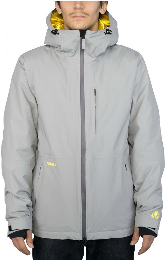 Куртка утепленная CyrusКуртки<br><br>Максимально лаконичная утепленная куртка для увлеченных сноубордистов. Мы хотели создать вещь, которая станет идеальной в соотношении...<br><br>Цвет: Серый<br>Размер: 44