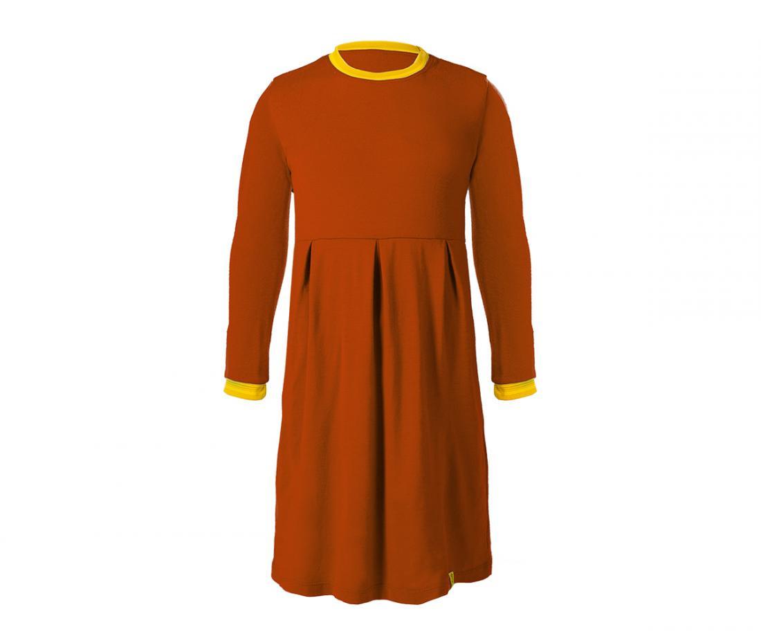 """Платье Stella ДетскоеПлатья, юбки<br>Теплое и легкое платье из шерсти мериноса. Прекрасно согревает во время прогулок в холодную погоду в качестве базового или утепляющего слоя, не """"кусает"""" нежную кожу ребенка. Плоские швы не стесняют движений.<br><br>Материал: 100% Merino wool...<br><br>Цвет: Красный<br>Размер: 122"""