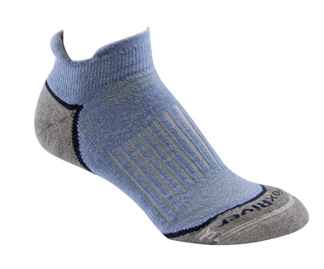 Носки турист.2556 STRIVE CREW жен.Носки<br>Эти тонкие носки из мериносовой шерсти обеспечивают комфорт и амортизацию во время любых путешествий. Носки созданы специально для женской стопы - с маленьким носком и узкой пяткой.<br><br><br>Система URfit™<br>Специальные вентилируемые ...<br><br>Цвет: Голубой<br>Размер: L