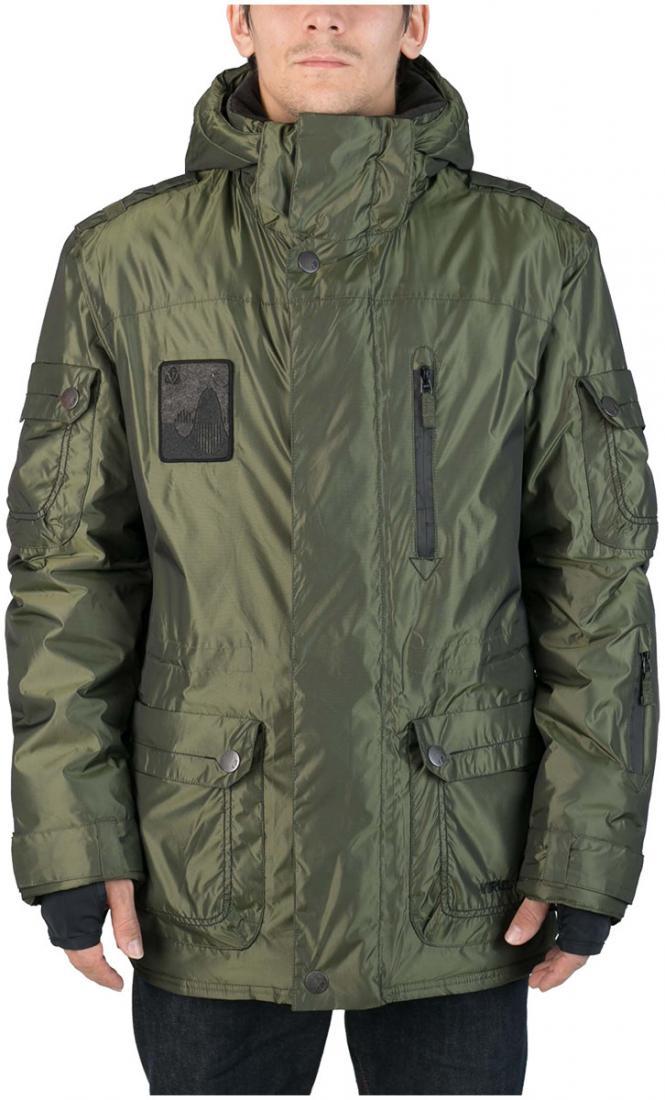 Куртка Virus  утепленная Hornet (osa)Куртки<br><br> Многофункциональная мужская куртка-парка для города и склона. Специальная система карманов «анти-снег». Удлиненный силуэт и шлица на л...<br><br>Цвет: Темно-зеленый<br>Размер: 54