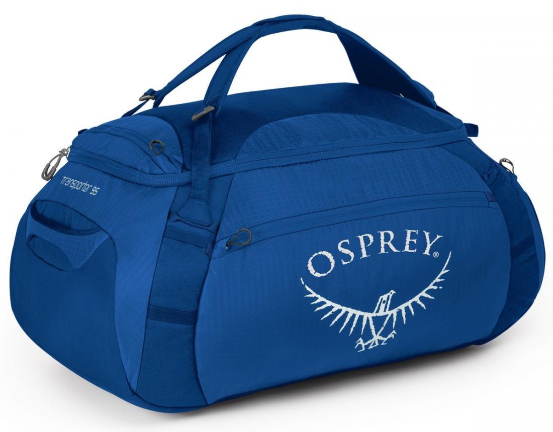 Сумка Transporter 95Сумки<br>Легкая сумка Transporter 95, превращающаяся в рюкзак, – идеальный компаньон для путешествий. Две ручки быстро и удобно трансформируются в лямки...<br><br>Цвет: Светло-синий<br>Размер: 95 л