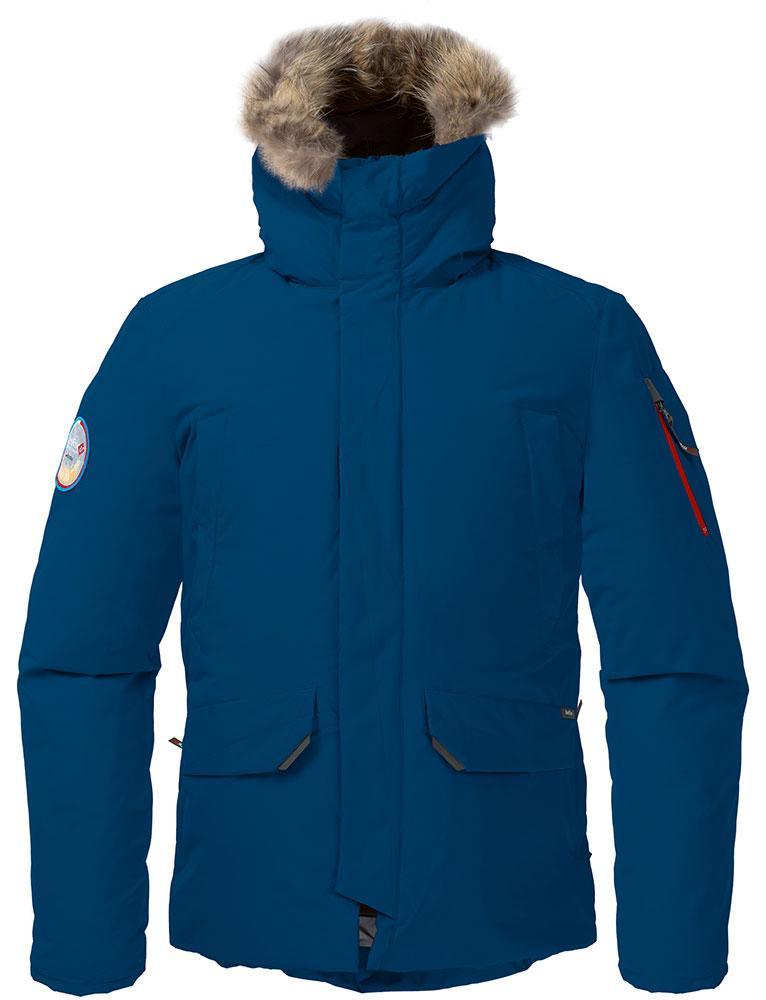 Куртка пуховая ForesterКуртки<br><br> Пуховая куртка, рассчитанная на использование вусловиях очень низких температур. Обладает всемихарактеристиками, необходимыми для защиты от экстремального холода. Максимальные теплоизолирующиепоказатели достигаются за счет особенного расположени...<br><br>Цвет: Темно-синий<br>Размер: 50