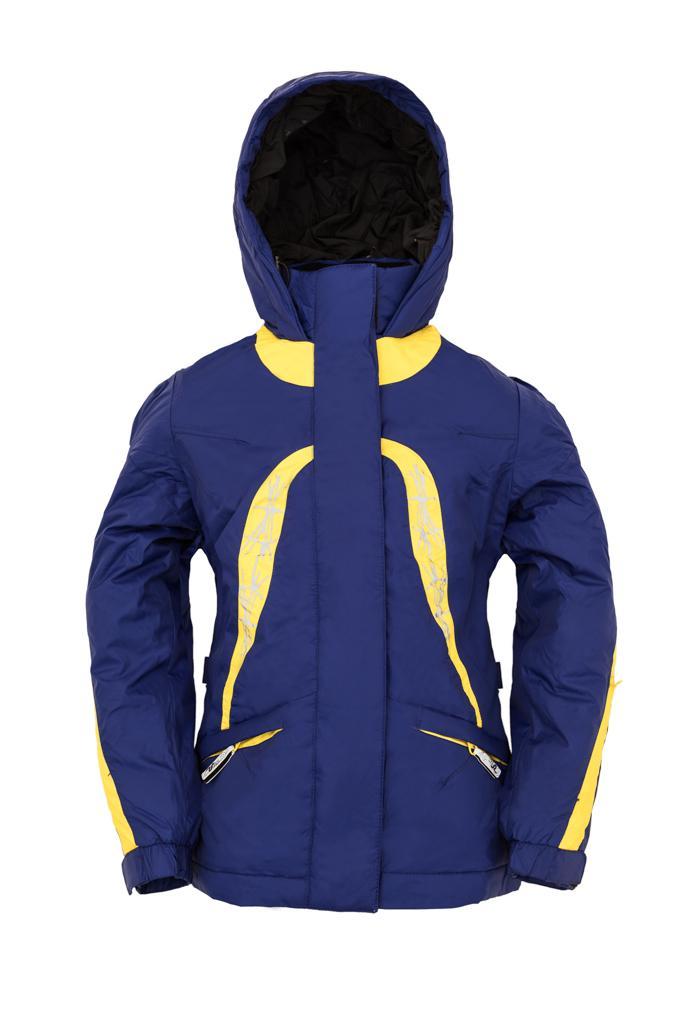 Куртка утеплённая Plumelet II детскаяКуртки<br><br> Утепленная куртка для девочек от 8 лет, предназначена для ношения в холодное время года. Куртка надежно защищает от дождя, ветра и холода благодаря материалу и регулируемым застёжкам. А вышивка, яркие цвета и современный дизайн подарят радостное на...<br><br>Цвет: Темно-синий<br>Размер: 134