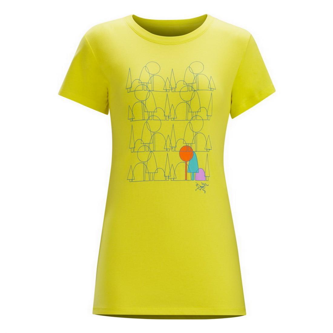 Футболка Forest Form SS T-shirt жен.Футболки, поло<br><br><br>Цвет: Желтый<br>Размер: M