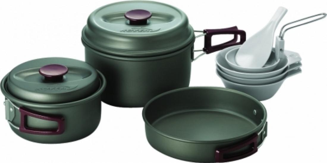 Набор Kovea  посуды VKK-SH23Посуда<br> Набор легкой походной посуды из алюминия с холодным анодированием, рассчитанный на 2–3 человек. Набор состоит из двух кастрюлек объемом 1...<br><br>Цвет: Темно-серый<br>Размер: None