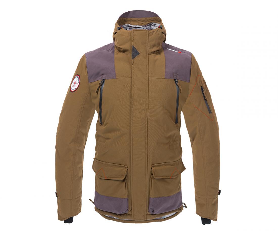 Куртка утепленная XLB Ex08Куртки<br>Утеплённая куртка с серьёзной штормовой зашитой в стиле исследователя Северного полюса. Комбинация мембранного материала Dry Factor® с <br>высокотехнологичным  утеплителем  Thinsulate®  надёжно  защитит  от  пронизывающего  холода,  особенно  в  условиях...<br><br>Цвет: Коричневый<br>Размер: 60