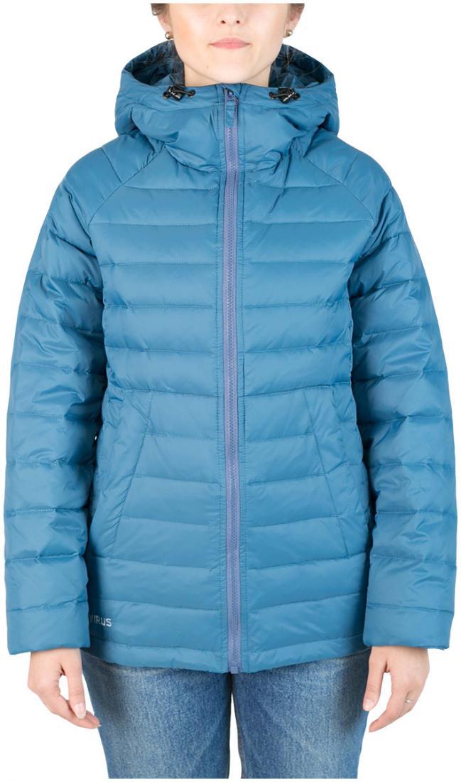 Куртка пуховая Chord WКуртки<br><br>Пуховая кенгуру? Почему бы и нет! легкий. Выполнен из тонкой ткани с водоотталкивающей обработкой DWR. Куртка отлично сидит по фигуре.<br><br>...<br><br>Цвет: Синий<br>Размер: 44