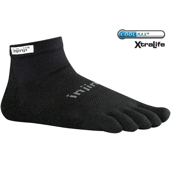 Носки RUN LIGHTWEIGHT MINI-CREW (M, Black, ,) injinji 2012 performance midweight mini crew toe socks