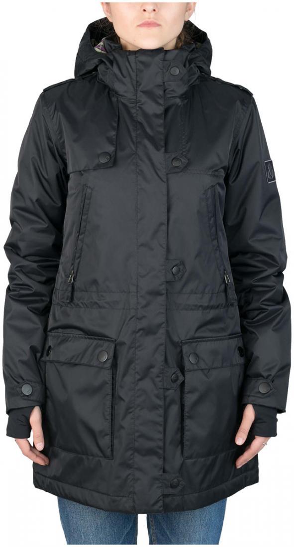Куртка утепленная Prk WКуртки<br><br><br>Цвет: Черный<br>Размер: 46
