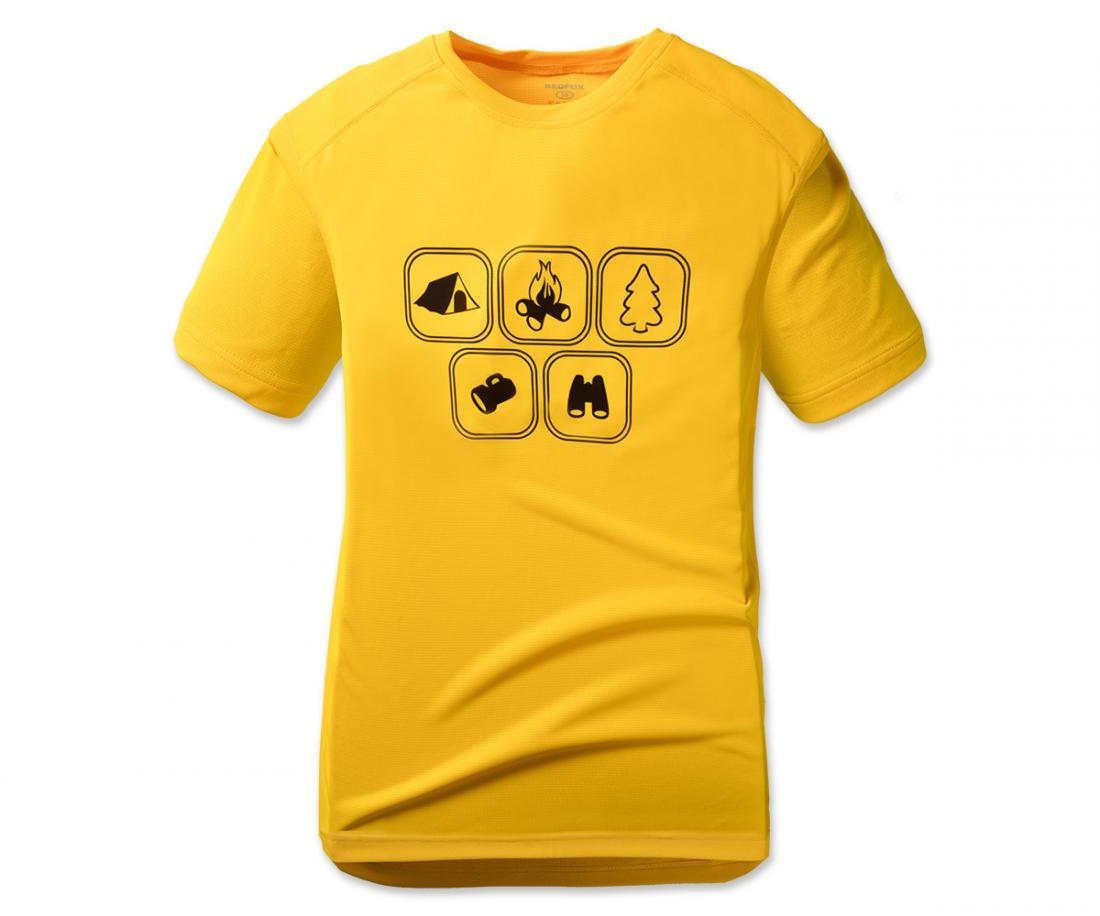 Футболка Symbol TФутболки, поло<br>Футболки Symbol T – футболки свободного кроя с различными рисунками аутдор-тематикиМатериал: Quick Dry Polyester, UV-CUTРазмерный ряд: 46-60<br><br>Цвет: Желтый<br>Размер: 60