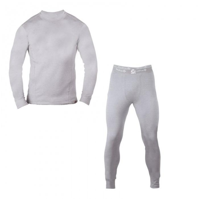 Термобелье костюм King Dry II МужскойКомплекты<br><br> Мужское термобелье c высокими влагоотводящими характеристиками. идеально в качестве базового слоя для занятий зимними видами активности, а также во время прогулок и ношения каждый день.<br><br><br> Основные характеристики<br><br><br><br><br>...<br><br>Цвет: Серый<br>Размер: 58