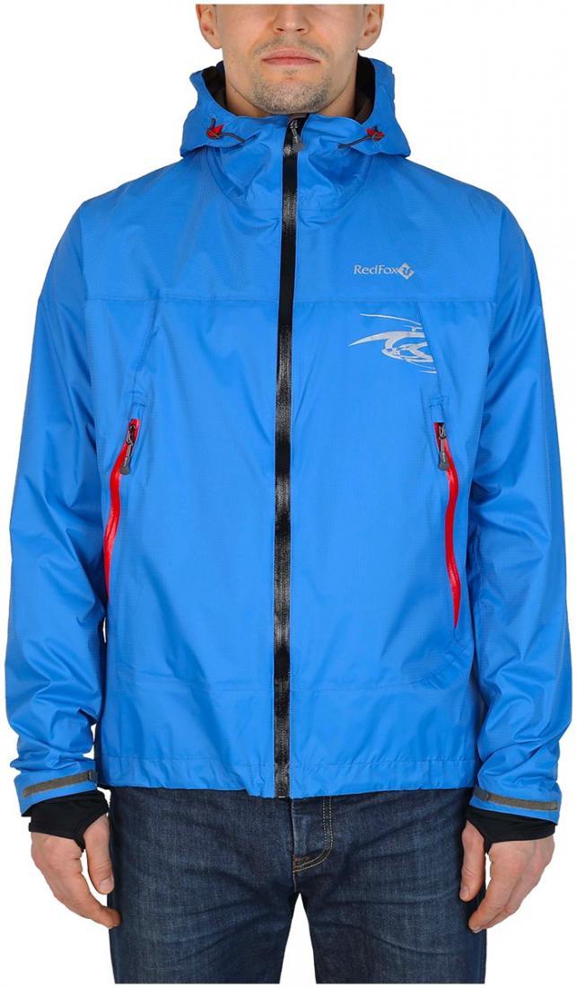Куртка ветрозащитная Trek IIКуртки<br><br><br> Легкая влаго-ветрозащитная куртка для использованияв ветреную или...<br><br>Цвет: Синий<br>Размер: 44