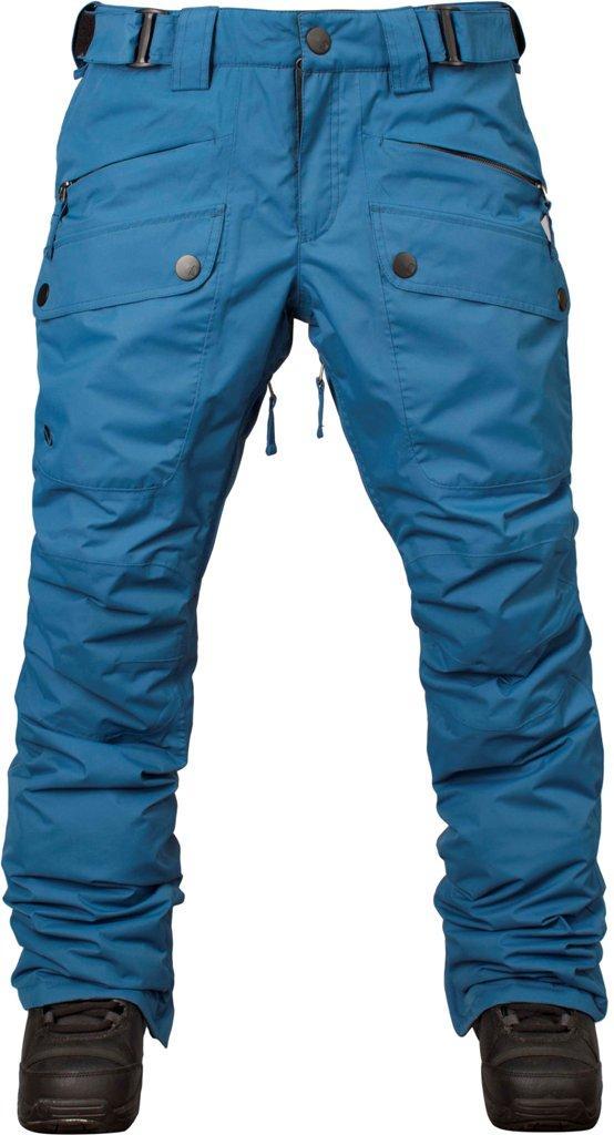 Штаны сноубордические утепленные Tune WБрюки, штаны<br>Утепленные штаны для стильных девушек. Модель Tune W обладает свободной посадкой на бёдрах и зауженными штанинами. Накладные карманы спере...<br><br>Цвет: Темно-синий<br>Размер: 44