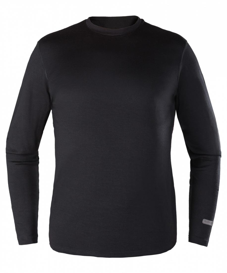 Термобелье футболка с длинным рукавом Merino 50 МужскаяФутболки<br><br>основное назначение: Arctic, Trekking, City&amp;Travel;<br>мягкая высококачественная мериносовая шерсть<br>слегка свободная посадка<br>естественная терморегуляция и защита от возникновения неприятного запаха<br>круглый выр...<br><br>Цвет: Черный<br>Размер: L