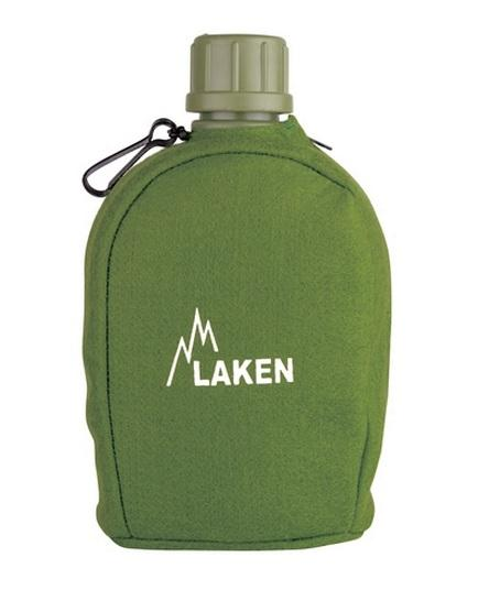 Laken Фляга Pluma 2111 пласт с карабином в чехле screw cap (, Зеленый, , 1) аксессуары на ваз 2111