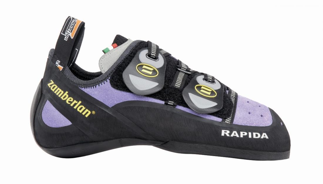 Скальные туфли A80-RAPIDA WNS IIСкальные туфли<br><br> Специально для женщин, модель с разработанной с учетом особенностей женской стопы колодкой Zamberlan®. Эти туфли сочетают в себе отличную колодку и прекрасное сцепление. Подвижная застежка Velcro обеспечивает удобную фиксацию. Увеличенная шнуровка ...<br><br>Цвет: Фиолетовый<br>Размер: 36