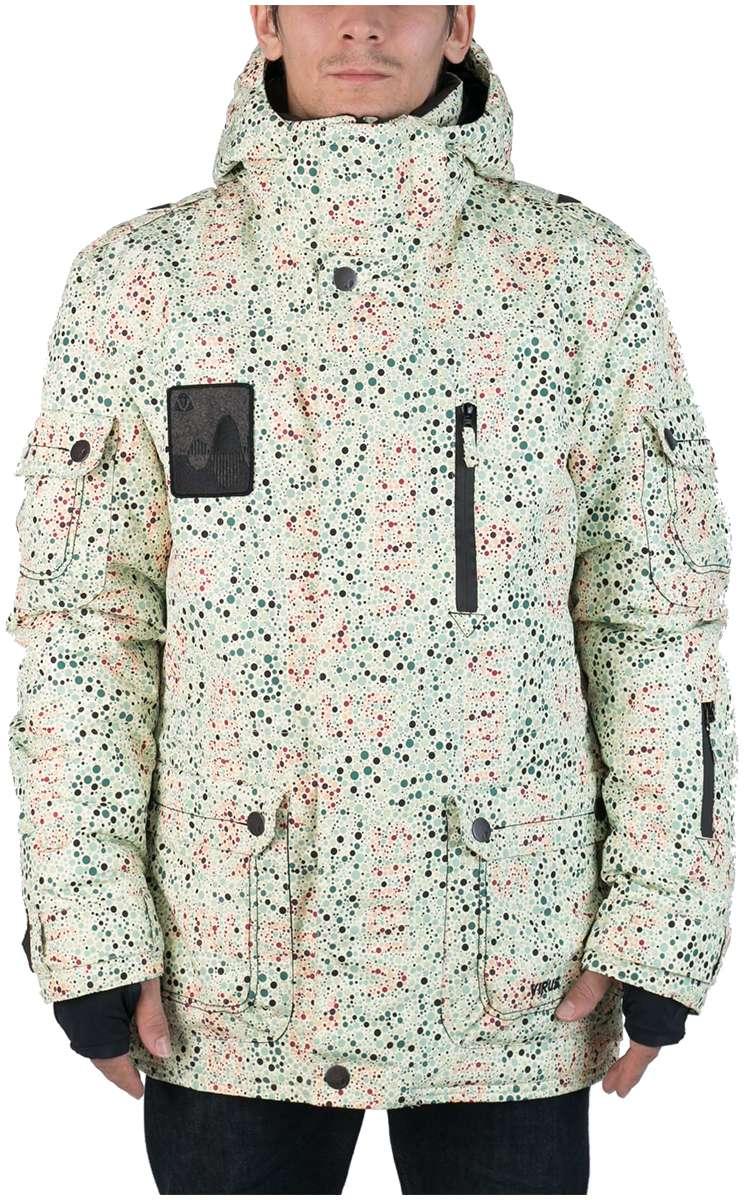 Куртка Virus  утепленная Hornet (osa)Куртки<br><br> Многофункциональная мужская куртка-парка для города и склона. Специальная система карманов «анти-снег». Удлиненный силуэт и шлица на л...<br><br>Цвет: Бежевый<br>Размер: 52
