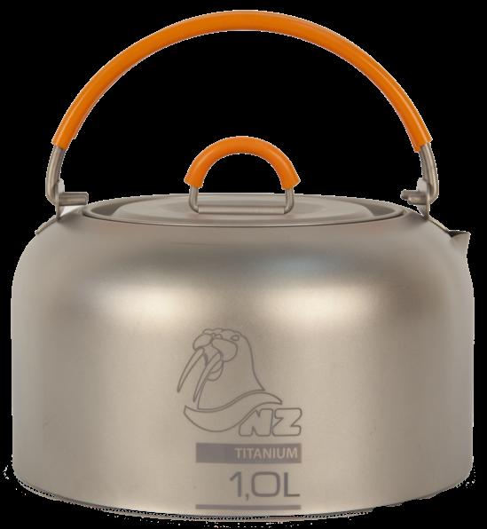 Чайник NZ TK-101 титан.Посуда<br>Титановый заварочный чайник NZ TK-101 Ti Kettle 1000 ml. Быстрозакипающий чайник из титана. Имеет минимальный вес и высокую прочность.<br><br>Вес: 150...<br><br>Цвет: Серый<br>Размер: None