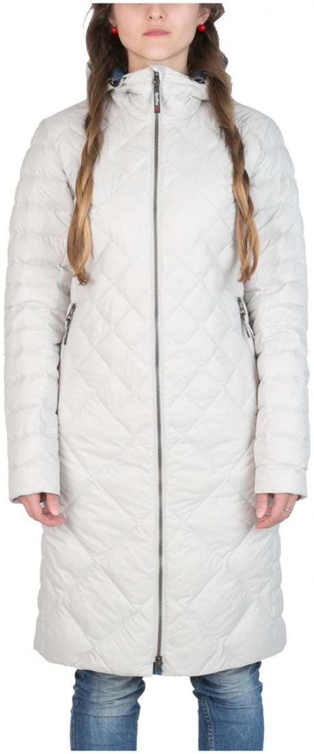 Пальто пуховое Nicole ЖенскоеПальто<br><br> Легкое пуховое пальто с элементами спортивного дизайна. соотношение малого веса и высоких тепловыхсвойств позволяет двигаться актив...<br><br>Цвет: Белый<br>Размер: 42