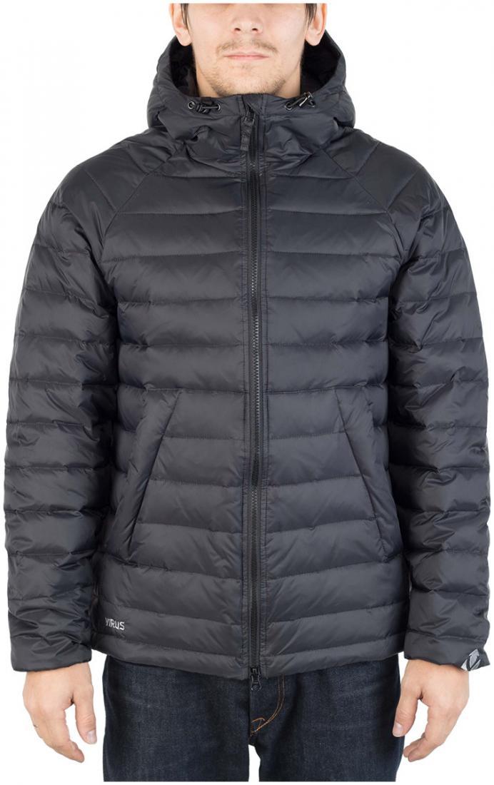 Куртка пуховая PUSHERКуртки<br><br>Пуховая кенгуру? Почему бы и нет! Легкая. Выполнена из тонкой ткани с водоотталкивающей обработкой DWR. Куртка отлично сидит по фигуре.<br>...<br><br>Цвет: Черный<br>Размер: 46