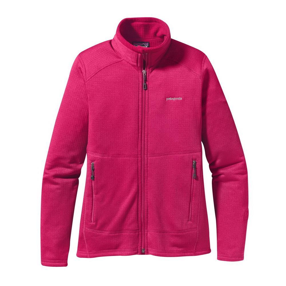 Куртка 40136 R1 FULL-ZIP жен.Куртки<br><br>Женская куртка Patagonia R1 FULL-ZIP изготовлена из мягкого и теплого флиса и может надеваться как отдельно, так и в качестве дополнительного уте...<br><br>Цвет: Малиновый<br>Размер: S
