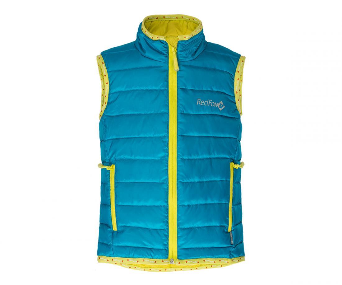 Жилет пуховый Air BabyЖилеты<br>Сверхлегкий пуховый жилет. Прекрасно подходит в качестве утепляющего слоя под куртку или как самостоятельный элемент гардероба, например:...<br><br>Цвет: Синий<br>Размер: 104