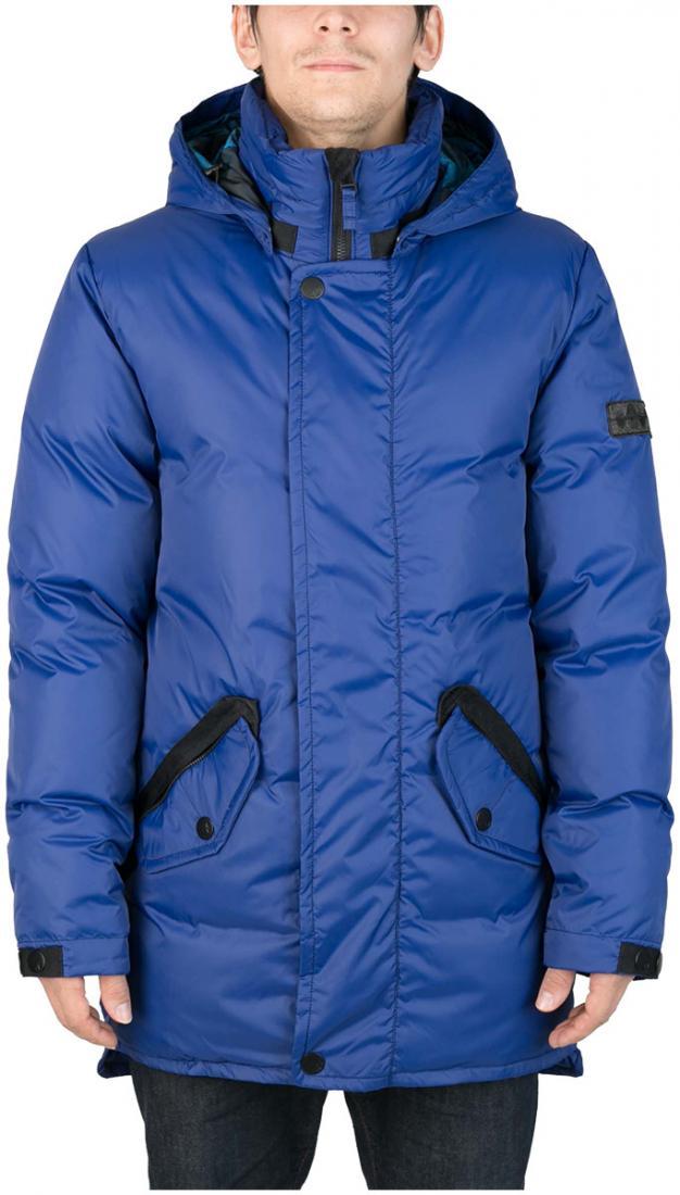 Куртка пуховая SandwichКуртки<br><br>Удлиненный мужской пуховик Sandwich создан специально для суровых российских зим. Утеплитель на основе из гусиного пуха, нетривиальные дет...<br><br>Цвет: Синий<br>Размер: 56