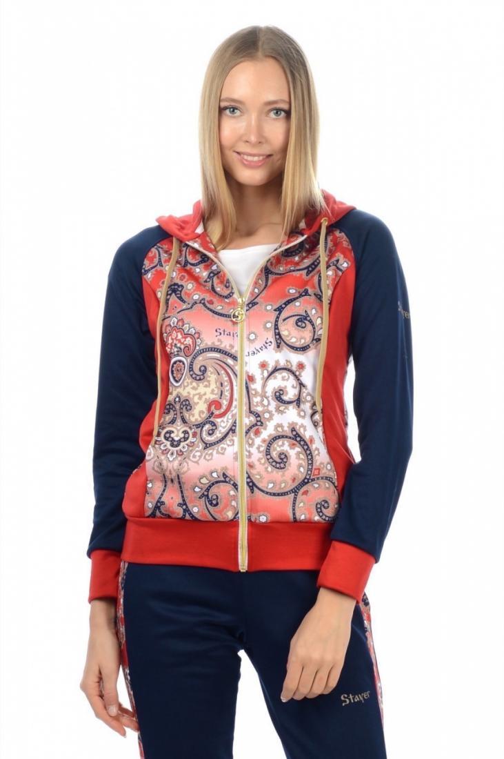 Джемпер 7193525Толстовки<br><br> Оригинальная кофта на замке создаст стильный образ, став одной из любимых вещей вашего повседневного гардероба. Также идеально подойдет для активного отдыха и легких путешествий.<br><br>  <br>Характеристики женского джемпера Stayer 7193525<br>...<br><br>Цвет: Синий<br>Размер: 44
