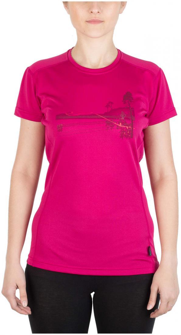 Футболка Ride T ЖенскаяФутболки, поло<br><br> Легкая и функциональная футболка свободного кроя из материала с высокими влагоотводящими показателями. Может использоваться в качестве базового слоя в холодную погоду или верхнего слоя во время активных занятий спортом.<br><br>Основные характери...<br><br>Цвет: Розовый<br>Размер: 42