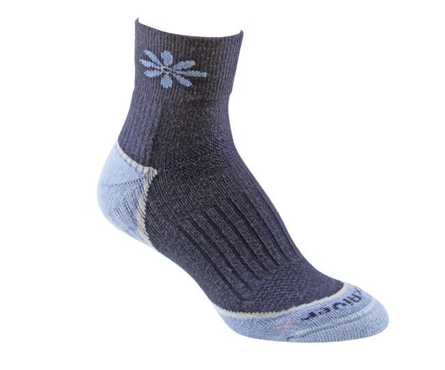 Носки турист.2557 STRIVE QTR жен.Носки<br>Эти тонкие носки из мериносовой шерсти обеспечивают комфорт и амортизацию во время любых путешествий. Носки созданы специально для женской стопы - с маленьким носком и узкой пяткой.<br><br><br>Система URfit™<br>Специальные вентилируемые ...<br><br>Цвет: Темно-синий<br>Размер: L