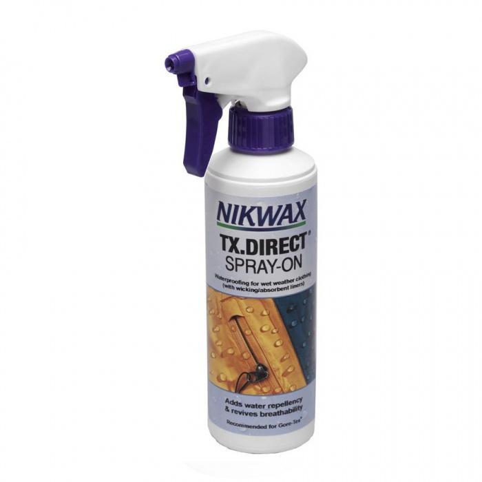 Пропитка для мембранных тканей TX Direct Spray-OnПропитки, стирки<br>Для придания водоотталкивающих свойств одежде из Gore-tex®, Sympatex® и дышащих нейлоновых материалов используйте Nikwax® TX.Direct® Wash-in или Nikwax® TX.Direct...<br><br>Цвет: Бесцветный<br>Размер: 500 мл