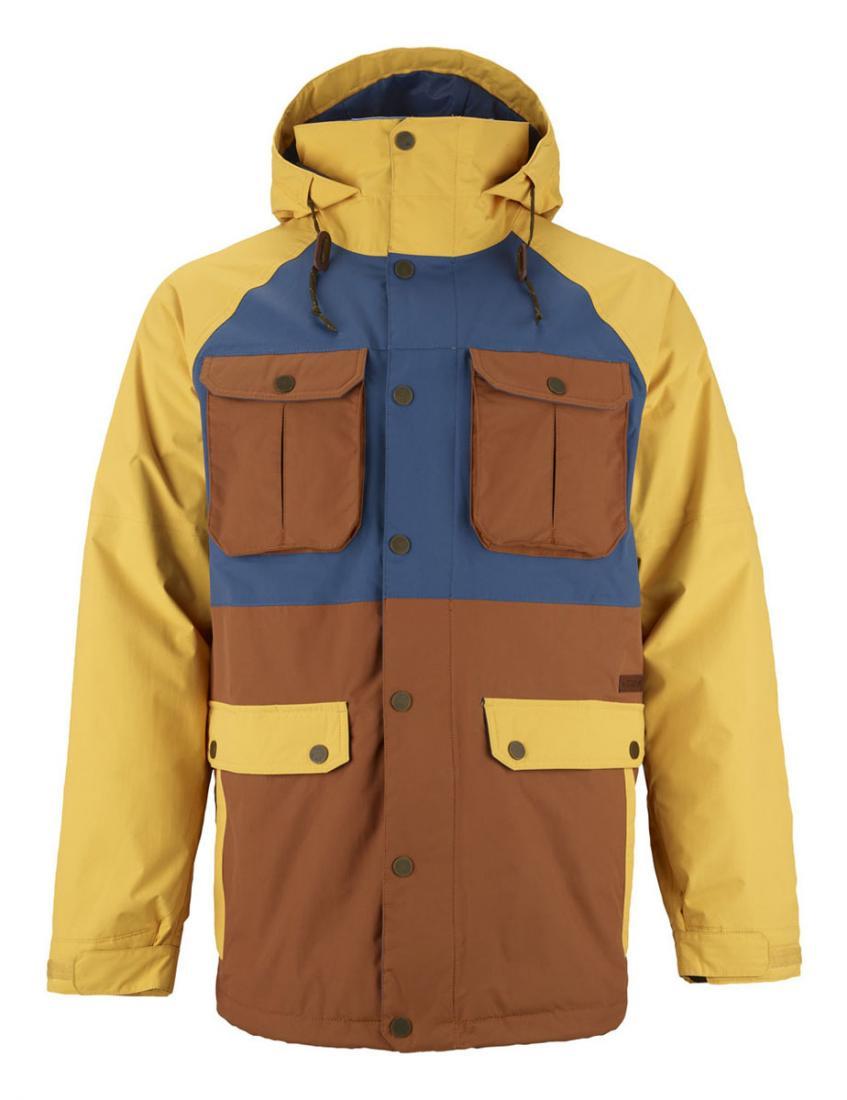 Куртка г/л MB FRONTIER JKКуртки<br>Мужская сноубордическая куртка Frontier сочетает в себе прочность, абсолютную защиту от холода и влаги. Свободный крой не сковывает движений и позволяет чувствовать себя свободным в любых условиях. Яркий дизайн модели привлекает внимание и в парке, и на с...<br><br>Цвет: Желтый<br>Размер: S