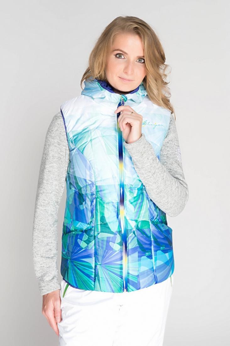 Жилет 525432Жилеты<br>Перед Вами очаровательный утепленный жилет, притягивающий всеобщее внимание. Нежные голубые переливы будут гармонично сочетаться с залит...<br><br>Цвет: Голубой<br>Размер: 52