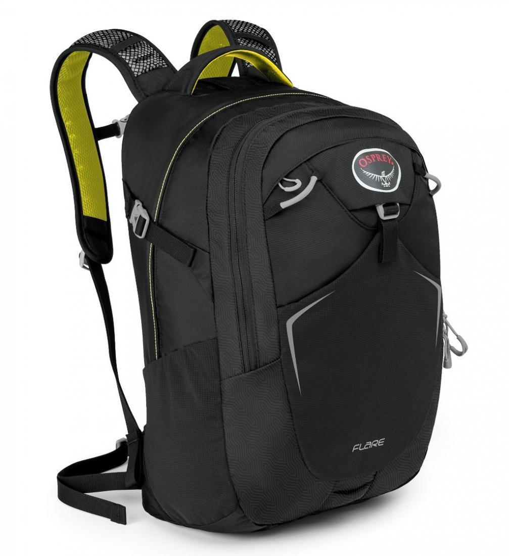 Рюкзак Flare 22Туристические, треккинговые<br><br> Как уместить все нужные в повседневной жизни вещи в одном месте? Легко, если у вас есть универсальный рюкзак Osprey Flare 22. Он вместительный, яркий и очень удобный.<br><br><br> Особенности<br><br><br>Рюкзак выполнен из прочных, уст...<br><br>Цвет: Черный<br>Размер: 22 л