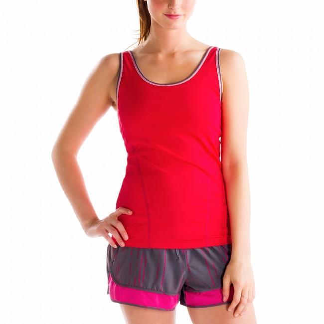 Топ LSW0933 SILHOUETTE UP TANK TOPФутболки, поло<br><br> Silhouette Up Tank Top LSW0933 – простая и функциональная футболка для женщин от спортивного бренда Lole. Модель имеет широкий вырез на спине, придающий ей открытость и сексуальность, удобный анатомический крой, встроенный бюстгальтер. Справа преду...<br><br>Цвет: Красный<br>Размер: XXS