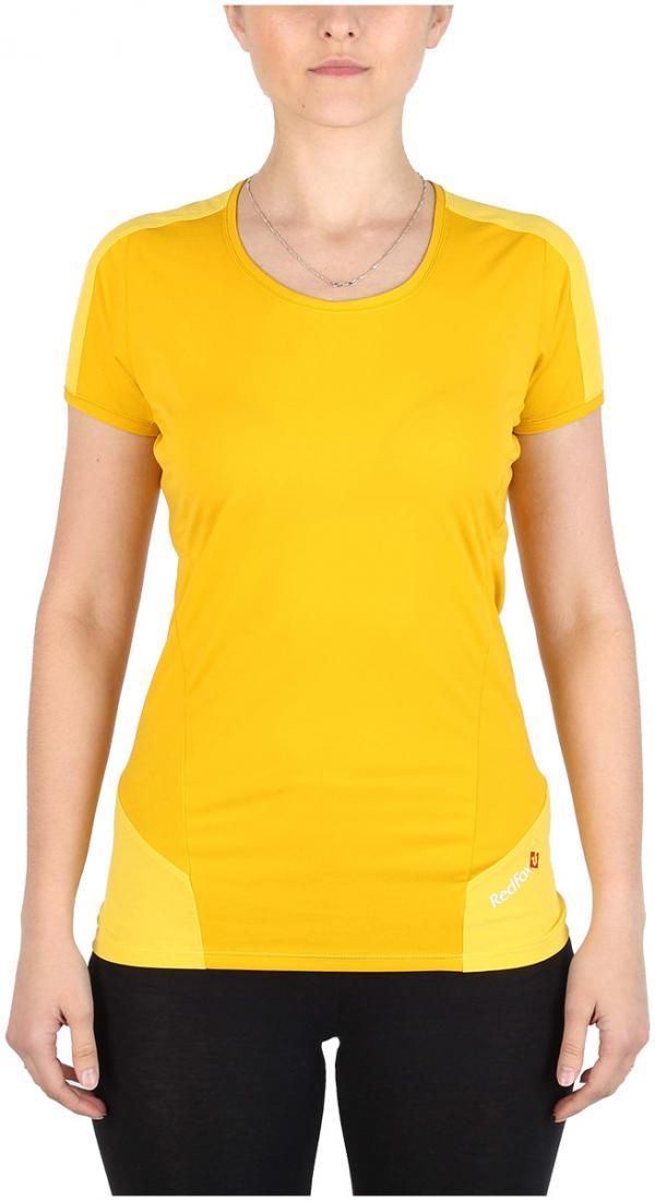 Футболка Amplitude SS ЖенскаяФутболки, поло<br><br> Легкая и функциональная футболка, выполненная из комбинации мягкого полиэстерового трикотажа, обеспечивающего эффективный отвод влаги, и усилений из нейлоновой ткани с высокой абразивной устойчивостью в местах подверженных наибольшим механическим н...<br><br>Цвет: Желтый<br>Размер: 44