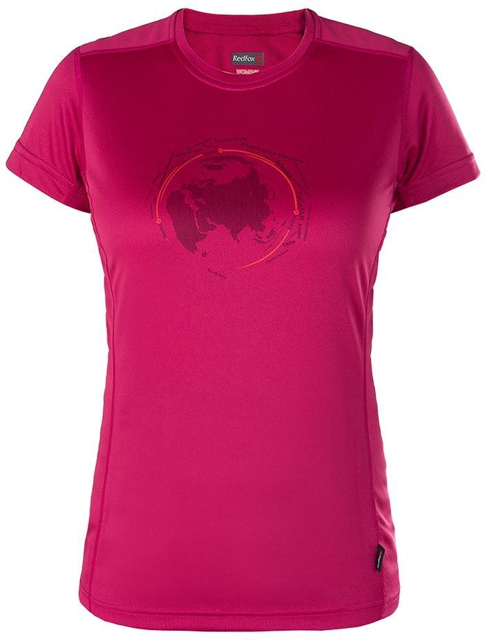 Футболка Globe ЖенскаяФутболки, поло<br>Женская футболка с оригинальным принтом.<br><br>основное назначение: походы, горные походы, туризм, путешествия, загородный отдых<br>материал с высокими показателями воздухопроницаемости<br>обработка материала, защищающая от ул...<br><br>Цвет: Розовый<br>Размер: 52