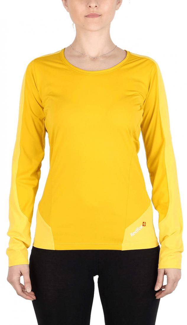 Футболка Amplitude LS ЖенскаяФутболки, поло<br><br> Легкая и функциональная футболка, выполненная изкомбинации мягкого полиэстерового трикотажа, обеспечивающего эффективный отвод влаги, и усилений изнейлоновой ткани с высокой абразивной устойчивостьюв местах подверженных наибольшим механическим н...<br><br>Цвет: Желтый<br>Размер: 50