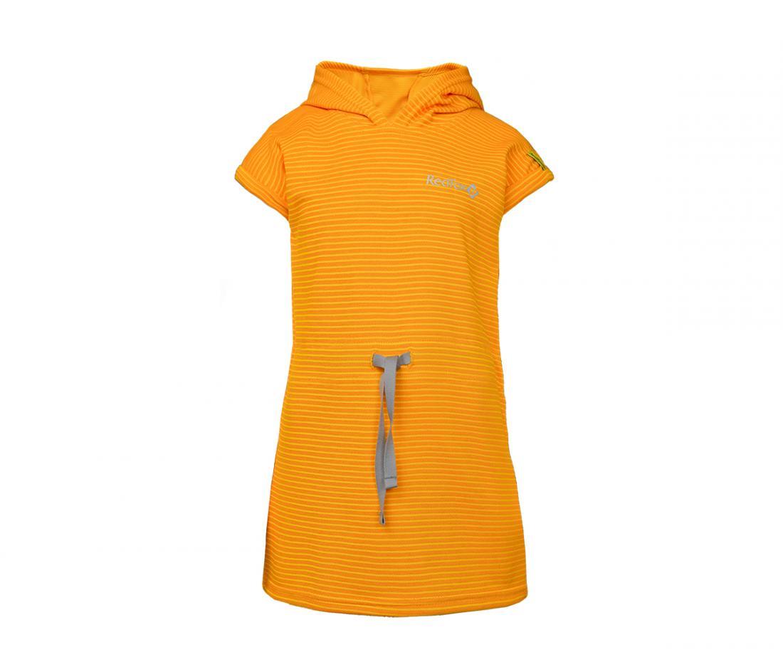 Платье с капюшоном Foxy Team ДетскоеПлатья, юбки<br>Вашей дочке очень понравится это оригинальное платье: нежный материал моментально высыхает, легкий капюшон защитит от солнечный лучей, а в...<br><br>Цвет: Желтый<br>Размер: 116