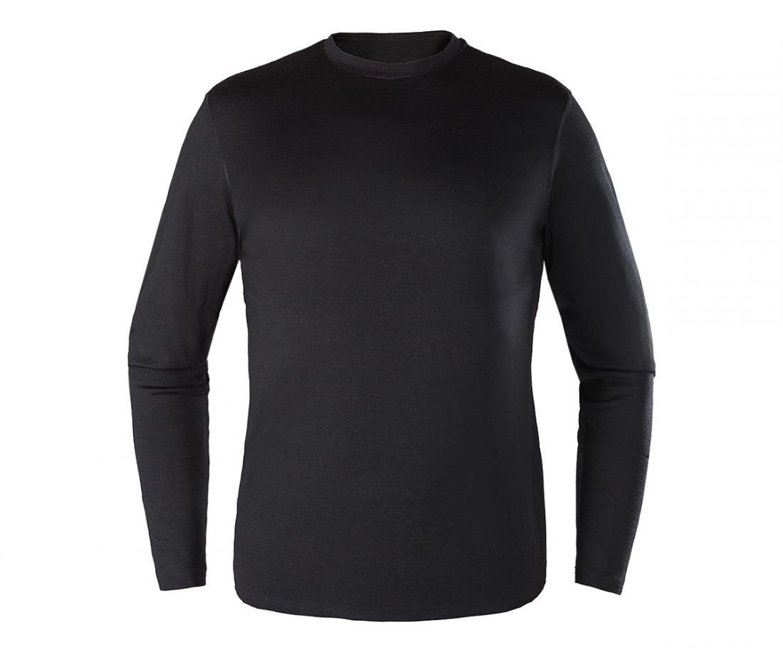 Термобелье футболка с длинным рукавом Merino Daily МужскойФутболки<br>Теплый мужской пуловер выполнен из тончайшей мериносовой шерсти c толщиной волокон 17,5 микрон; приятен к телу, естественным образом отводит влагу и сохраняет тепло; благодаря особой структуре волокон ткани, обладает антимикробными свойствами и нейтрал...<br><br>Цвет: Черный<br>Размер: XL