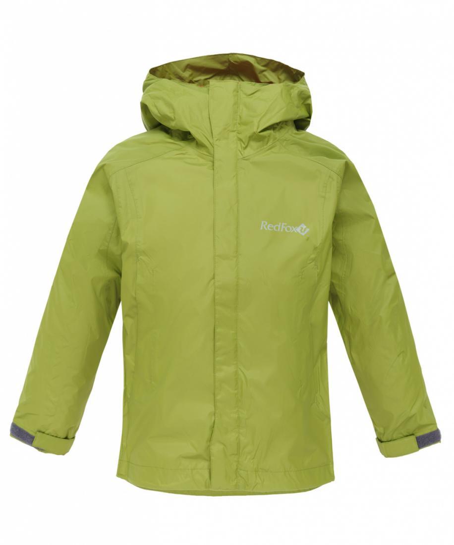 Куртка ветрозащитная Wind Fox II ДетскаяКуртки<br>Демисезонная куртка. Благодаря надежному мембраннному материалу, проклеенным швам, регулирующемуся по объему и глубине капюшону и регулировке объема по низу, куртка надежно защищает от дождя и ветра.<br><br>Материал: Dry Factor 5000, 100% Polye...<br><br>Цвет: Синий<br>Размер: 158