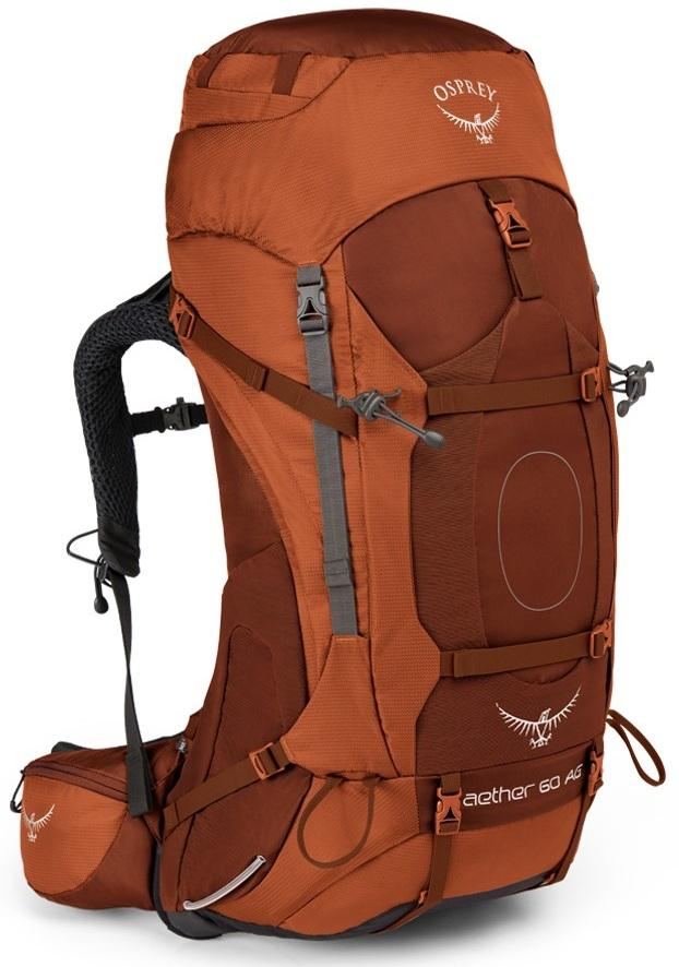 купить Osprey Рюкзак Aether AG 60 (M, Outback Orange, , ,) недорого