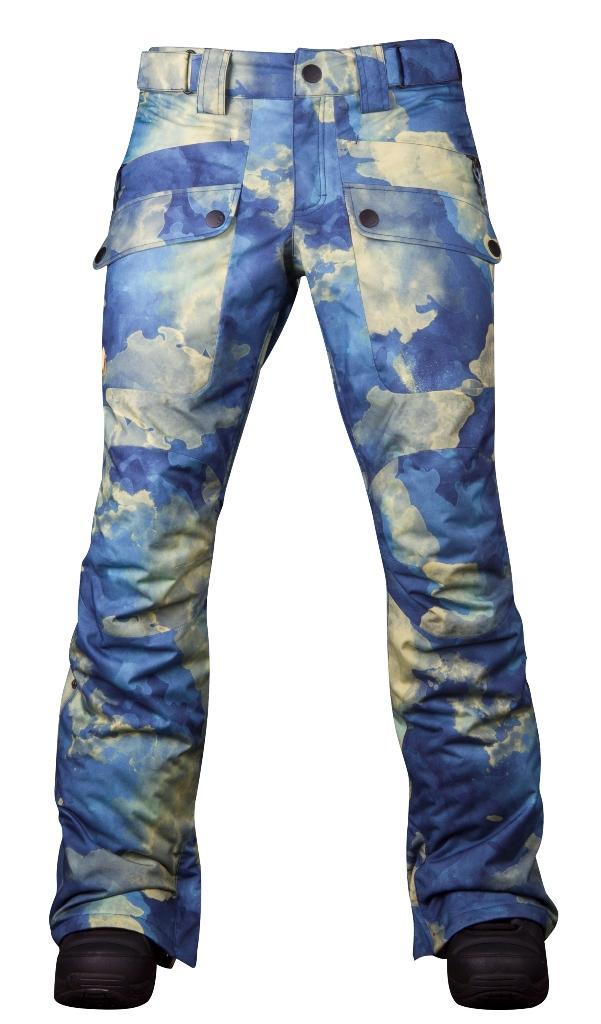 Штаны сноубордические утепленные Tune WБрюки, штаны<br>Утепленные штаны для стильных девушек. Модель Tune W обладает свободной посадкой на бёдрах и зауженными штанинами. Накладные карманы спере...<br><br>Цвет: Синий<br>Размер: 48