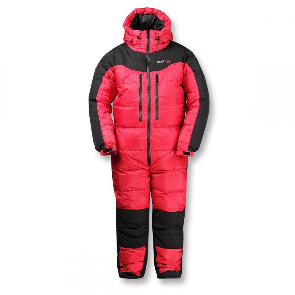 Комбинезон пуховый ExtremeКомбинезоны<br><br> Экспедиционный пуховый комбинезон выполнен из сверхлегкого и прочного материала с применением гусиного пуха высокого качества (F.P 800+).<br><br><br>основное назначение: высотный альпинизм, зимний альпинизм <br>регулируемый в двух пл...<br><br>Цвет: Красный<br>Размер: 54-56