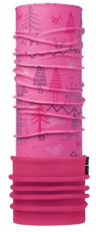 Бандана BUFF BABY POLAR (One Size, WOODS PINK/DRAGON FRUIT, , ,), Buff  - купить со скидкой