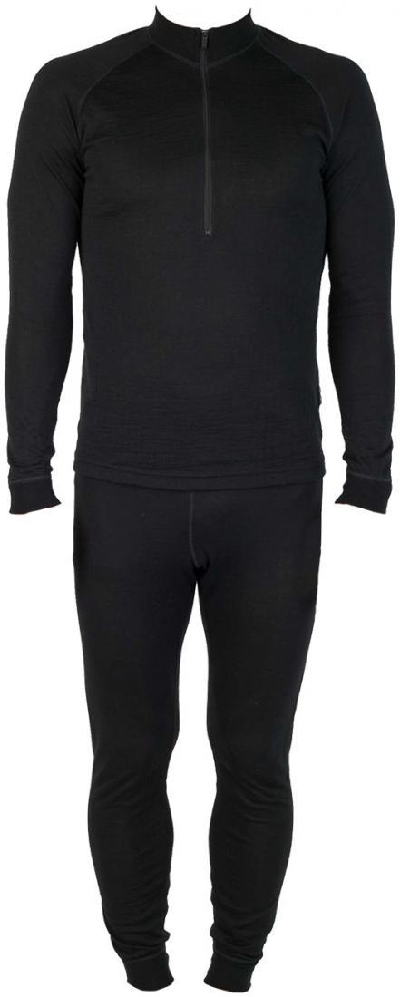 Термобелье костюм Natural Dry ZipКомплекты<br>Теплое белье из смесовой ткани: шерстяные волокна греют, анити акрила и полипропилена добавляют белью эластичности исокращают время исп...<br><br>Цвет: Черный<br>Размер: 60