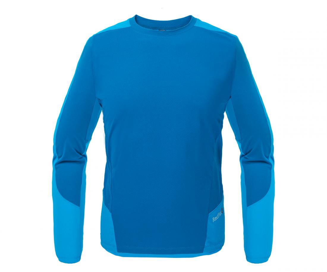 Футболка Amplitude LS МужскаяФутболки<br><br> Легкая и функциональная футболка, выполненная изкомбинации мягкого полиэстерового трикотажа, обеспечивающего эффективный отвод влаги, и усилений изнейлоновой ткани с высокой абразивной устойчивостьюв местах подверженных наибольшим механическим н...<br><br>Цвет: Голубой<br>Размер: 52